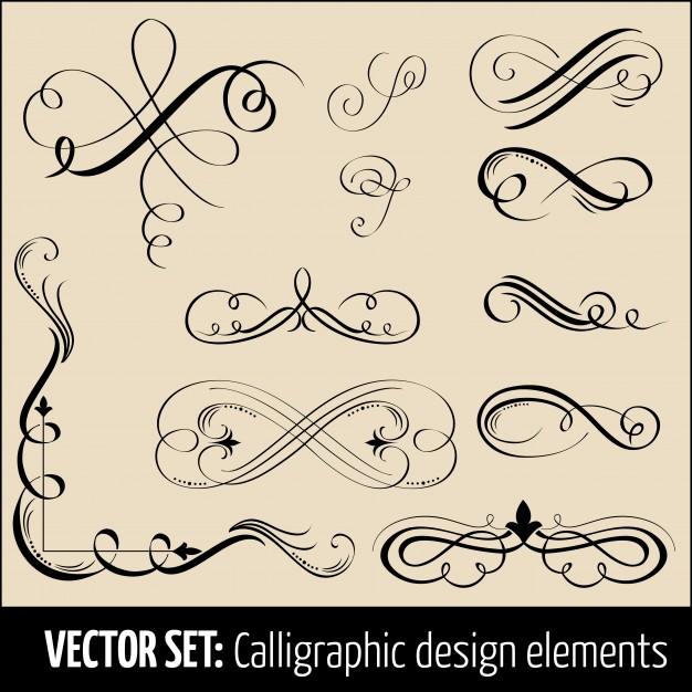 626x626 Vector Set Of Calligraphic