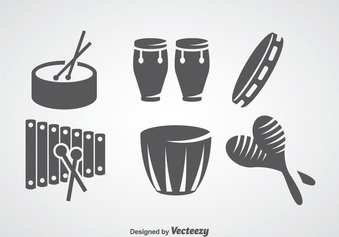 700x490 Salsa Music Instrument Vector Sets
