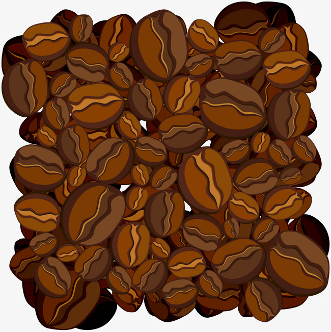 650x651 Vector Coffee Beans Background Shading, Vector Shading, Shading
