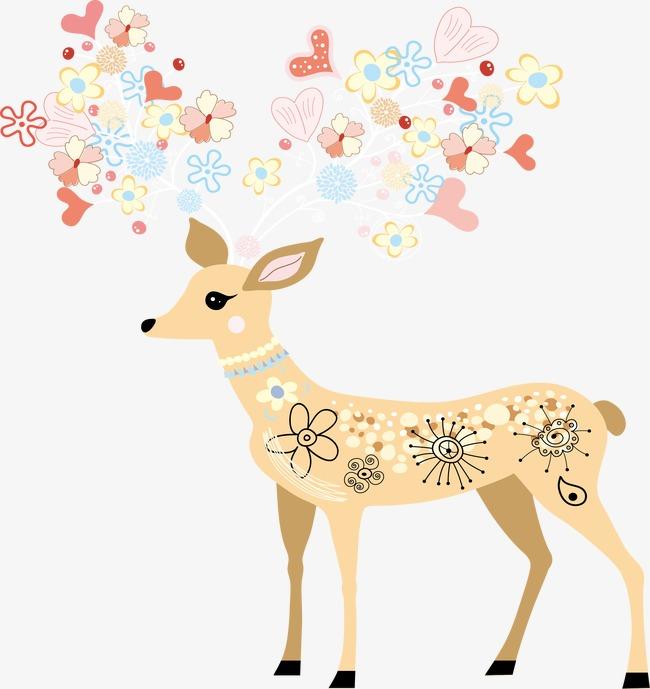 650x689 Deer,pattern, Deer Vector, Pattern Vector, Shading Border Line Png