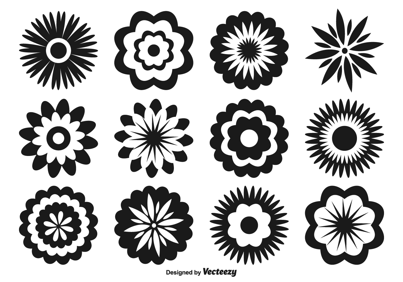 1400x980 Assorted Flower Shapes Vector Free Vector Download In .ai, .eps