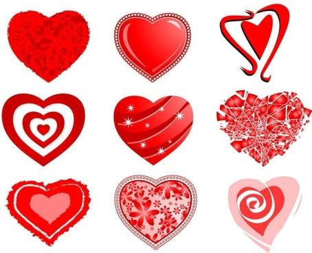 454x368 Free Vector Hearts
