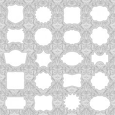 236x236 Ornate Floral Elements Vector