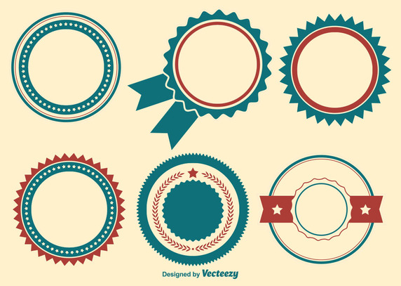 572x407 Patriotic Badge Shapes Vector Free Vector Download In .ai, .eps