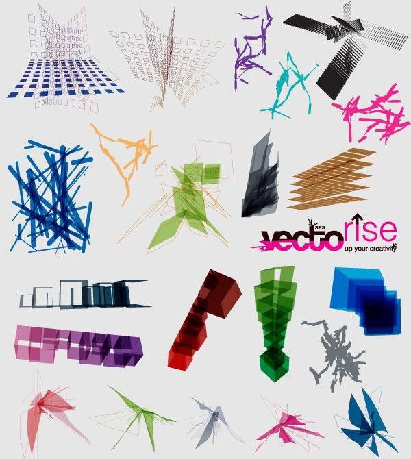 600x670 Vector Abstract Shapes Free Download 123freevectors
