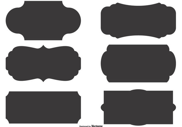 632x443 Vector Label Shape Set Free Vector Download 360169 Cannypic