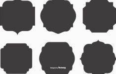 235x150 Vector Shapes Inspirational Blank Vector Label Shapes Free Vector