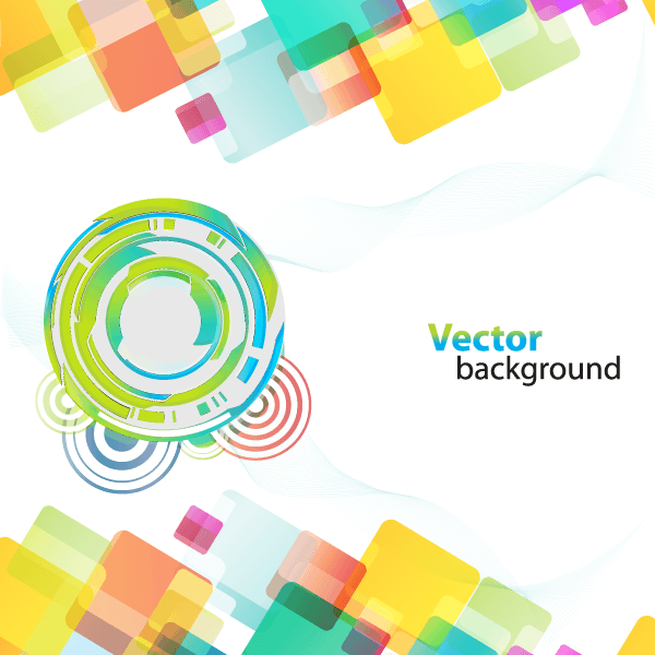 600x600 Abstract Background With Colorful Shapes Vector Free Abstract