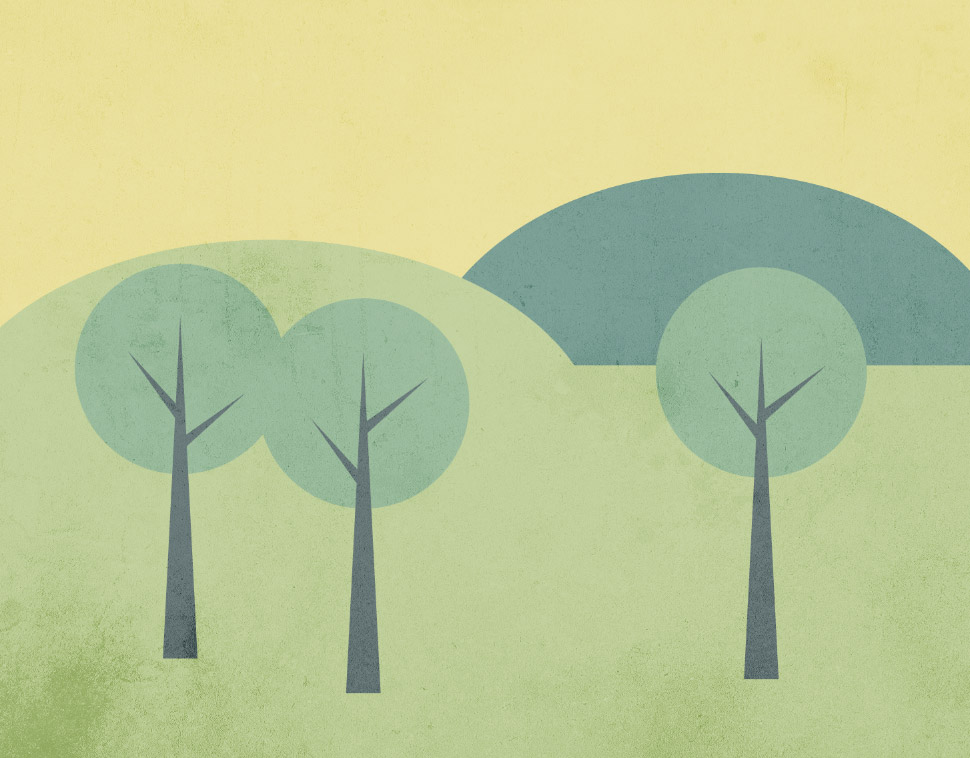 970x758 How To Create A Simple Landscape Scene In Illustrator