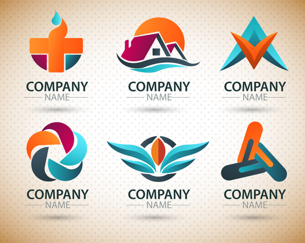 600x478 Logo Design Elements With Various Shapes Illustration Free Vector