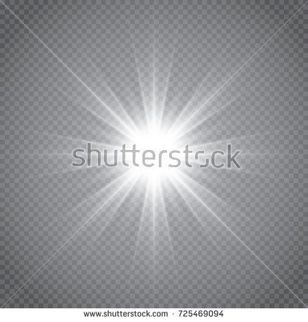 450x470 White Glowing Light Burst Explosion With Transparent. Vector