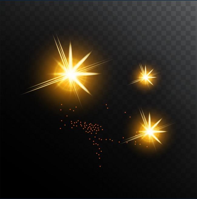 650x659 Golden Shine Light Effect Vector, Gold, Streamer, Speed U200bu200bof Light