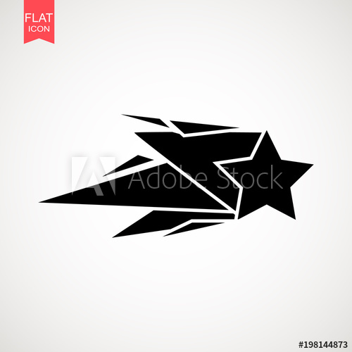 500x500 Falling Star Vector . Shooting Star Isolated From Background. Icon
