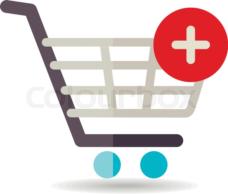 800x683 Shopping Cart Icon With Plus. Add From Cart. E Commerce Sign