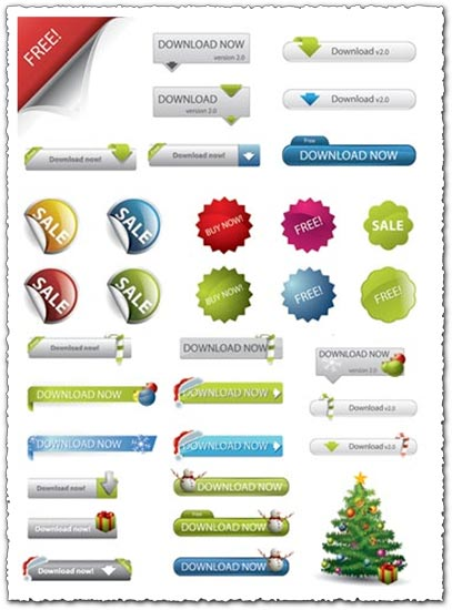 407x550 Site Elements And Web Design Buttons Vectors