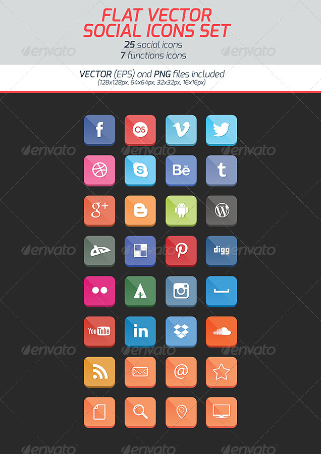 636x900 Best Social Media Icons Vector Collections