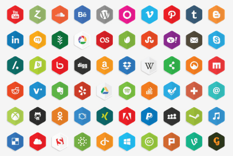Vector Social Media Icons 2016