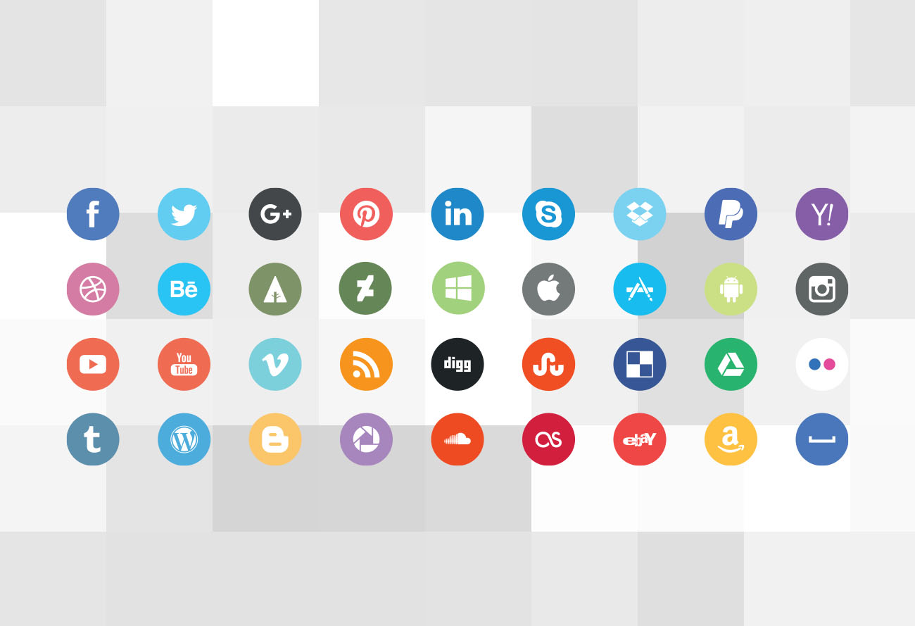 1300x889 Nice Vector Social Media Icons Caiocall Store