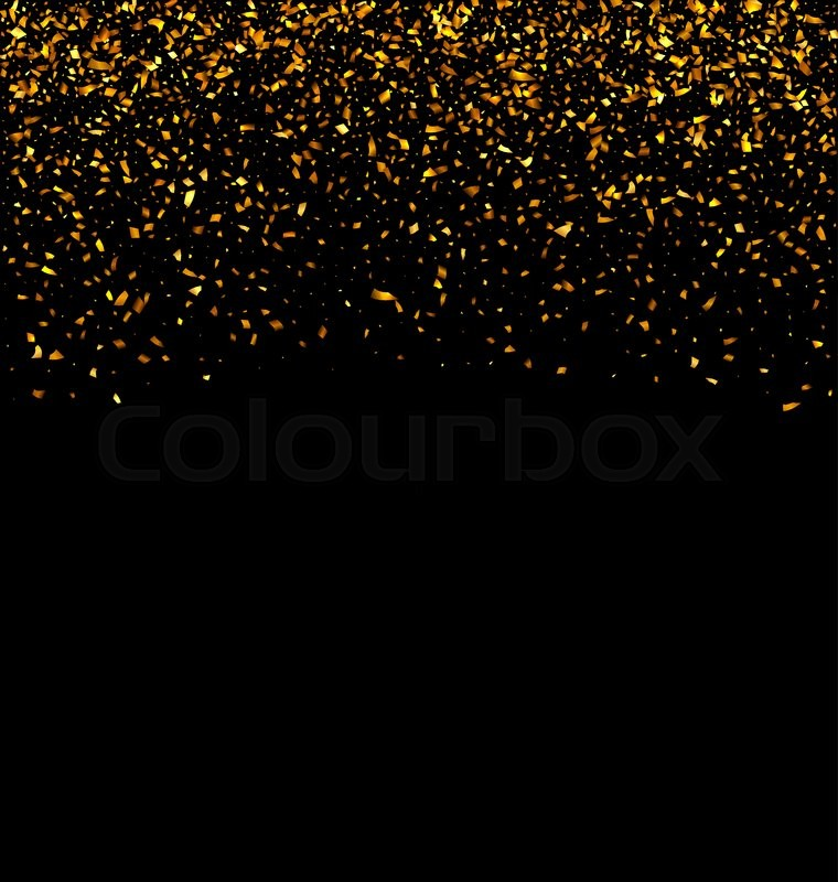 760x800 Illustration Golden Explosion Of Confetti. Golden Grainy Texture