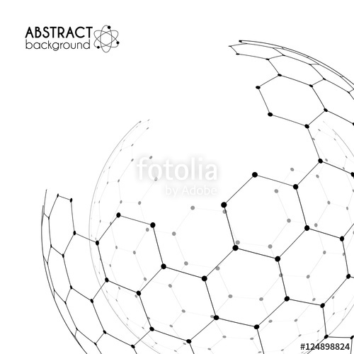 500x500 Physics And Chemistry Science Concept With Hexagonal Grid Vector