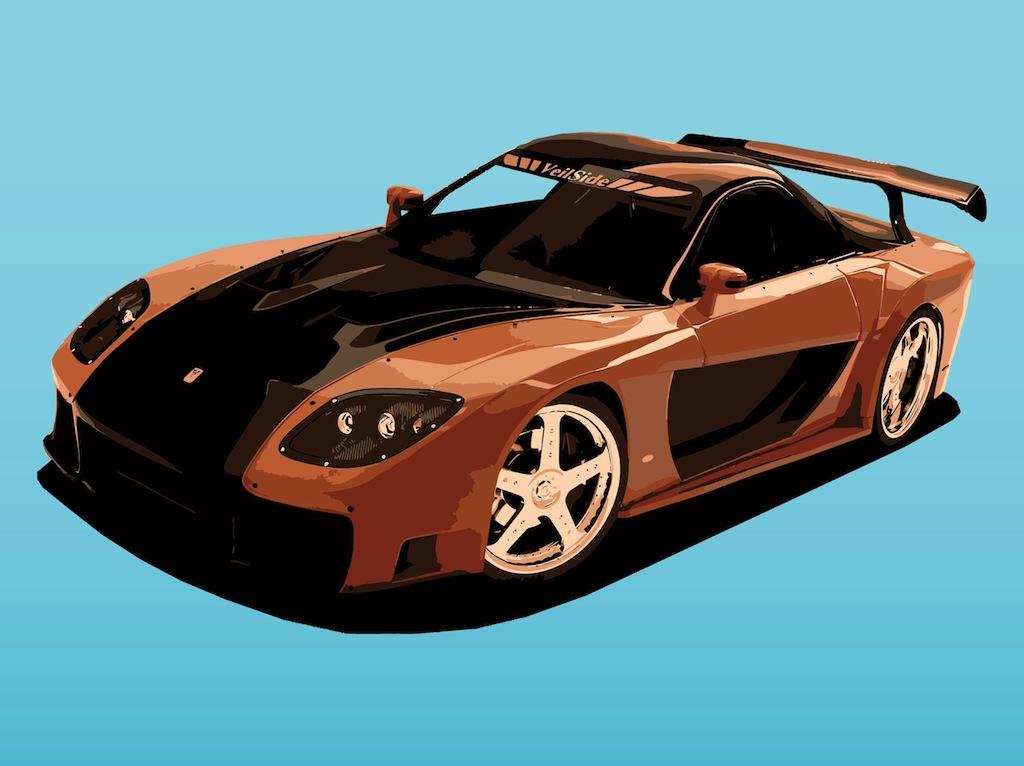 1024x766 Mazda Sports Car Vector Art Amp Graphics