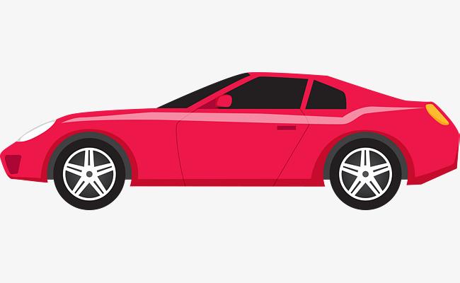 650x400 Red Vector Cartoon Sports Car, Cartoon Vector, Car Vector, Cartoon