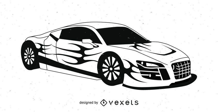 900x462 Sports Car Vector
