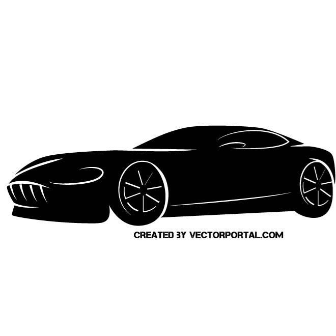 660x660 Sports Car Vector Silhouette. Justin Sports Cars
