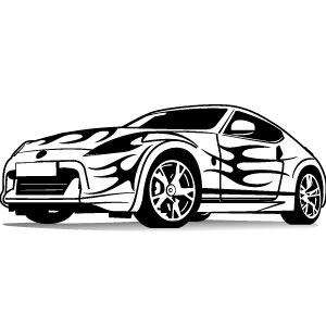 300x300 Sports Car Vector