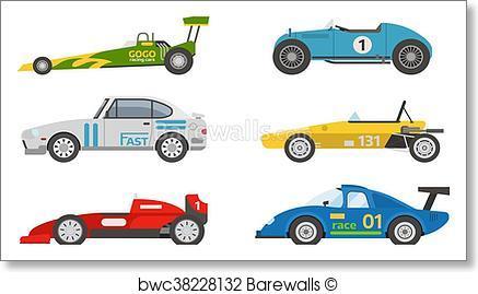 437x269 Art Print Of Retro Sport Car Vector. Barewalls Posters Amp Prints