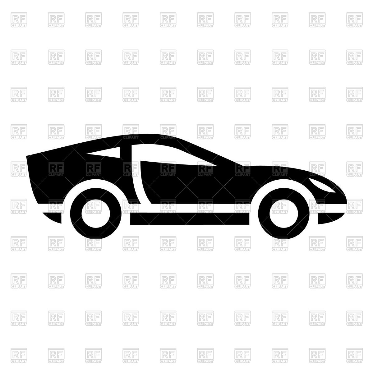 1200x1200 Black Icon Of Sport Car On White Background Vector Image Vector