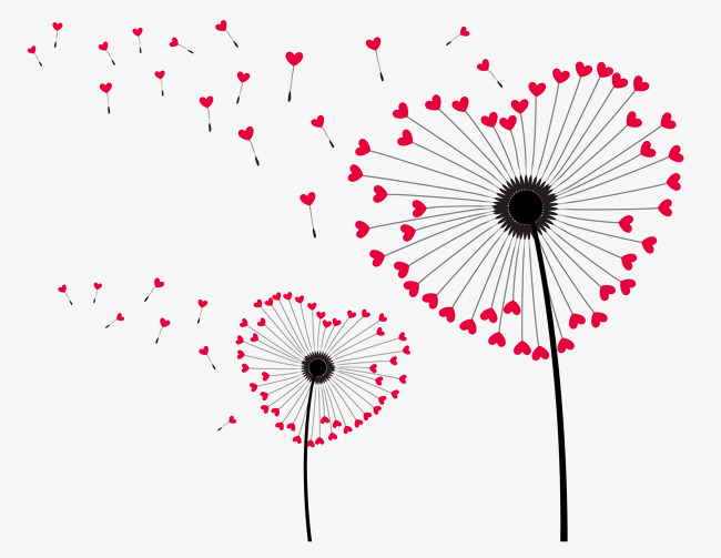 650x503 Love Dandelion Download, Love Vector, Spread, Vector Png And