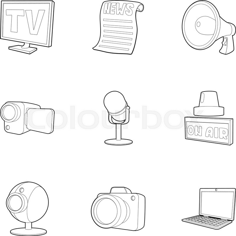 800x800 Spread Information Icons Set. Outline Set Of 9 Spread Information