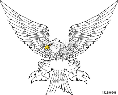 500x403 Spread Winged Eagle Insignia Stock Image And Royalty Free Vector