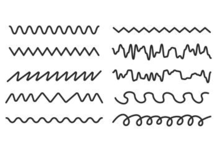 700x490 Set Of Squiggle Vector