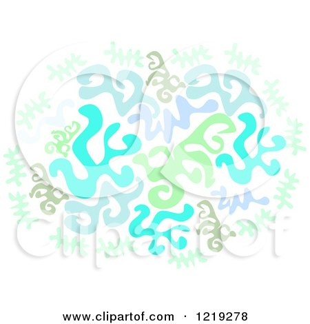 450x470 Clipart Of Squiggles In Blue And Green