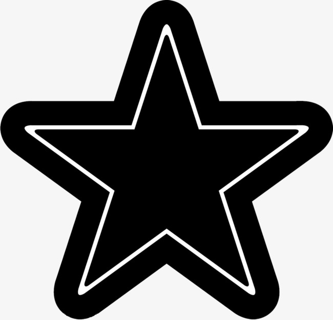 650x624 Black Star Vector, Star Clipart, Vector Graphics, Luxury Png Image