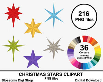 340x270 Christmas Stars Clipart Gold Star Clipart Star Elements Etsy