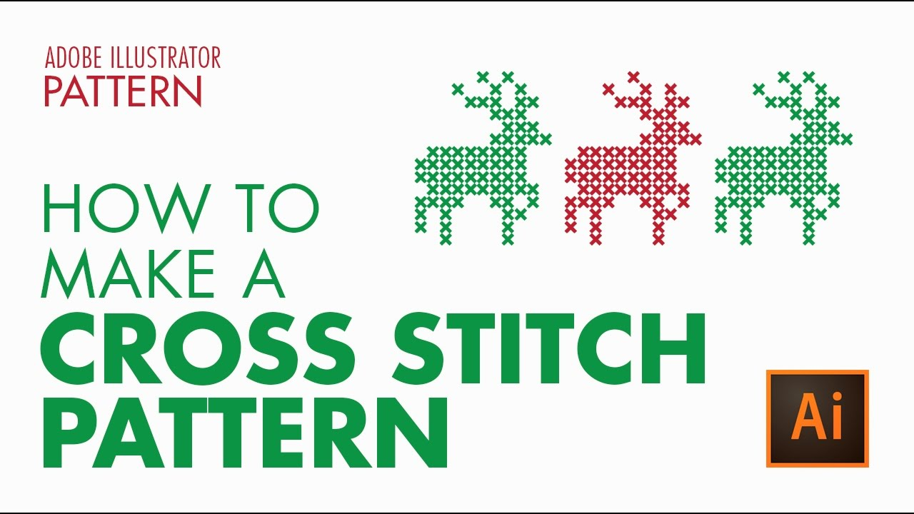 1280x720 How To Create A Vector Cross Stitch Effect In Adobe Illustrator