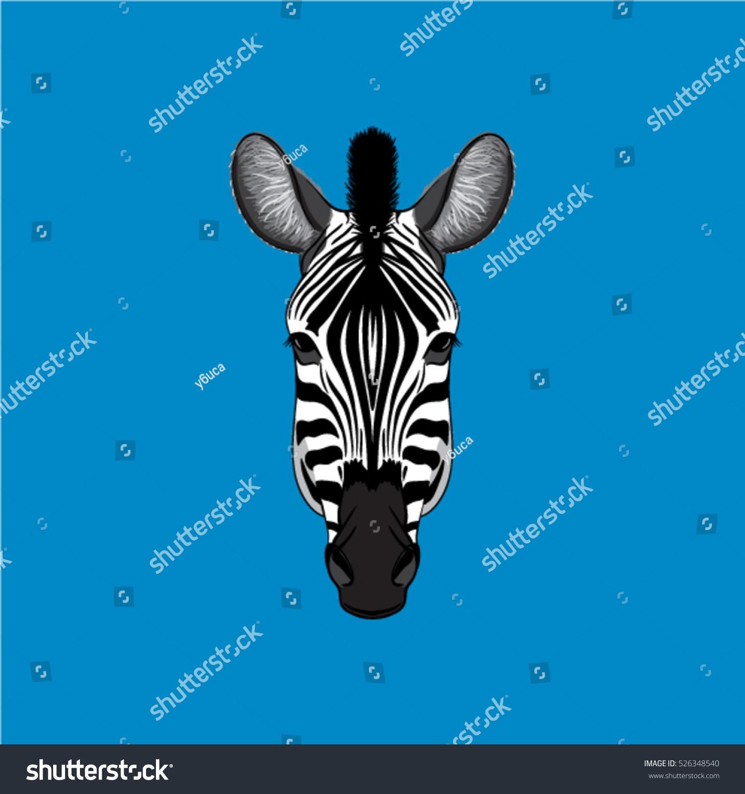 1500x1600 Zebra Face Valid Zebra Face Vector Stock Vector Royalty Free
