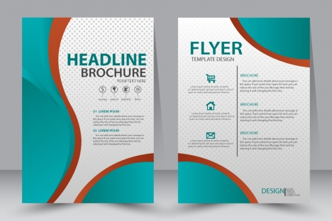 468x312 Brochure Design Templates Cdr Diamond Curves Vector Cdr Vectors