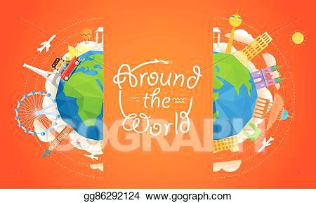 450x289 Travel Booklet Template Vector Stock Travel Vector Illustration