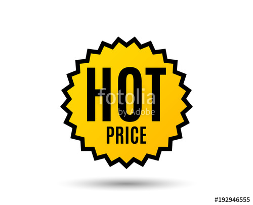 500x405 Hot Price. Special Offer Sale Sign. Advertising Discounts Symbol