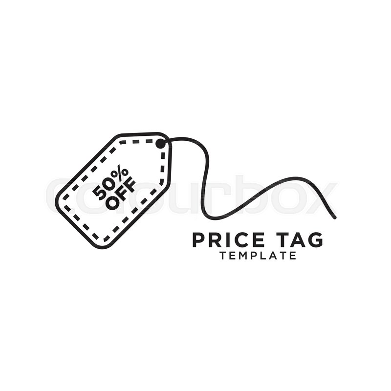 800x800 Illustration Of Price Tag Logo Template Vector Stock Vector