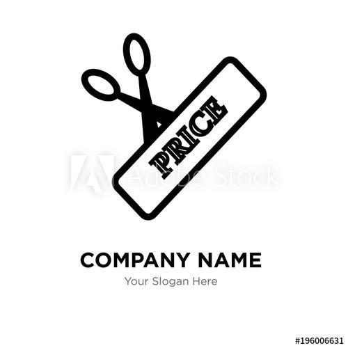 500x500 Scissors And Price Company Logo Design Template, Business