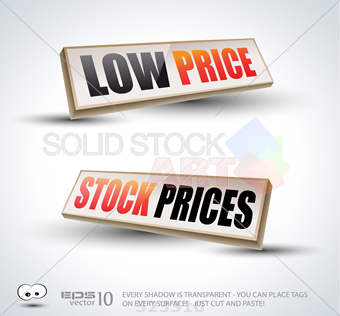 340x316 Stock Illustration Of Low Price And Stock Prices 3d Panels With