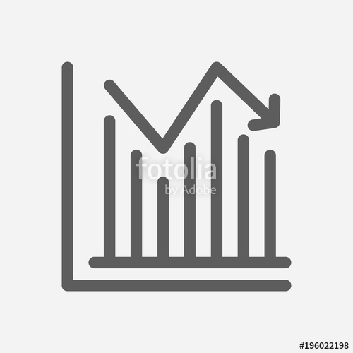 500x500 Stock Price Icon Line Symbol. Isolated Vector Illustration Of