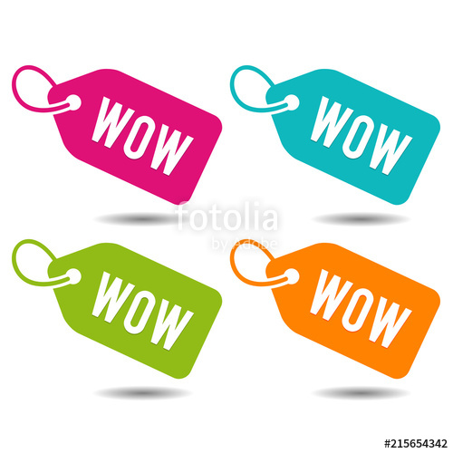 500x500 Wow Price Tags Banner. Flat Button Eps10 Vector Illustration
