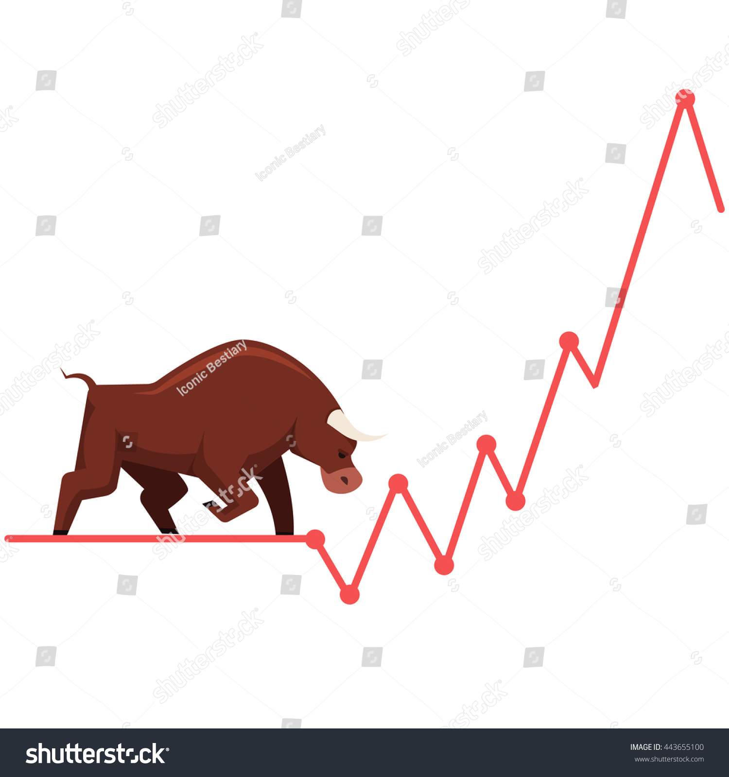 1500x1600 Cartoon,stock Market,vector Diagram, Stock Trading, Stagging, Bull