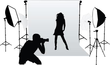 449x266 Elements Of Photographic Studio Photographer Design Vector Free